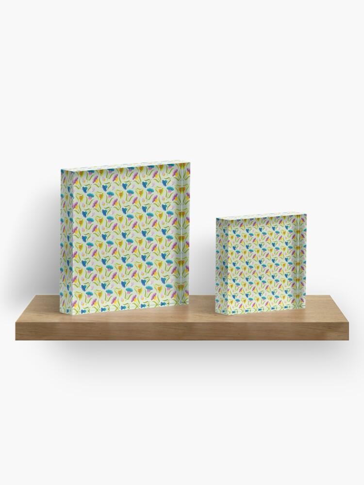 Alternate view of Beautiful Floral Pattern Acrylic Block