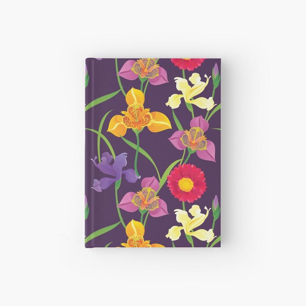 Tigridia, Iris, Daisy Pattern Hardcover Journal