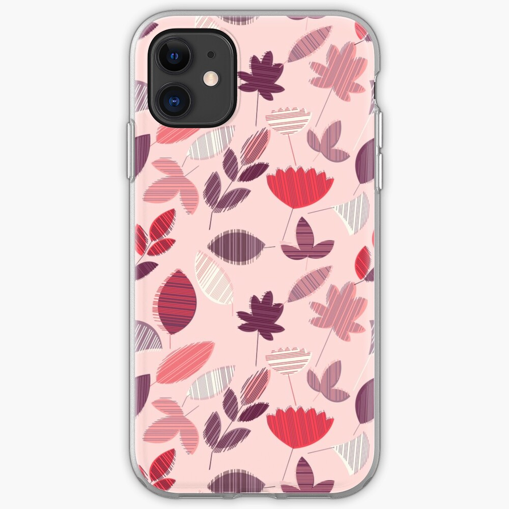 Abstract Pink Florar Pattern  iPhone Case & Cover