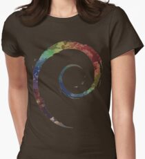 Colorful Debian Women's Fitted T-Shirt
