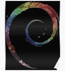 Colorful Debian Poster