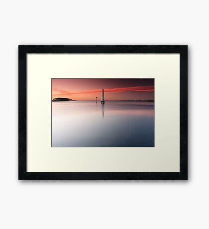 Dawn at Port Melbourne #1 Framed Print