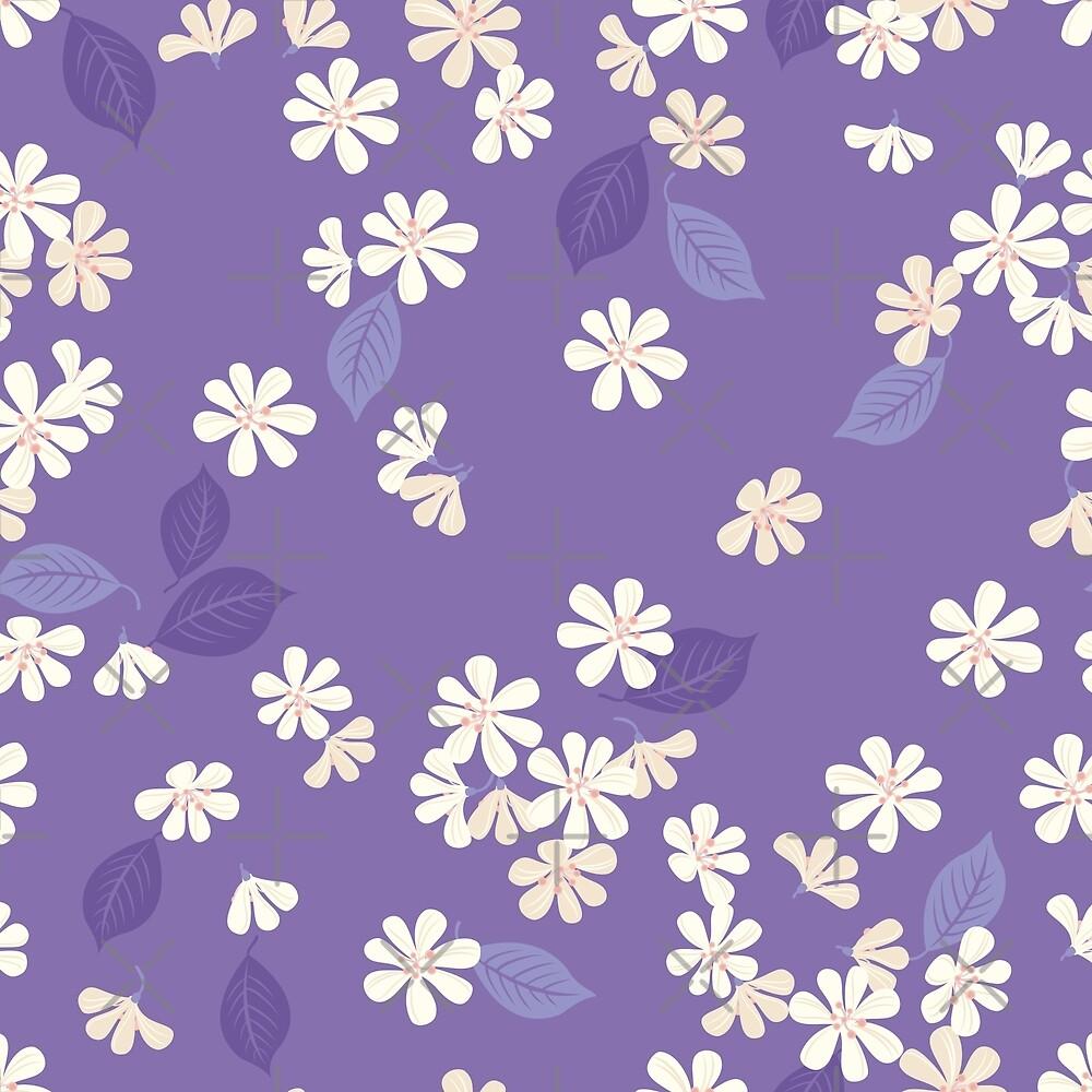 Sakura on purple by rusanovska