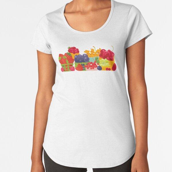 Fruits Market Premium Scoop T-Shirt