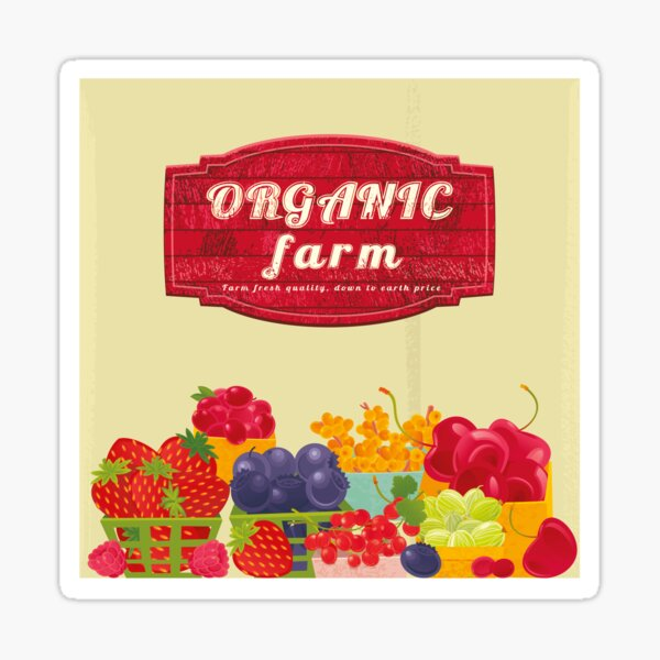Organic Farm Glossy Sticker