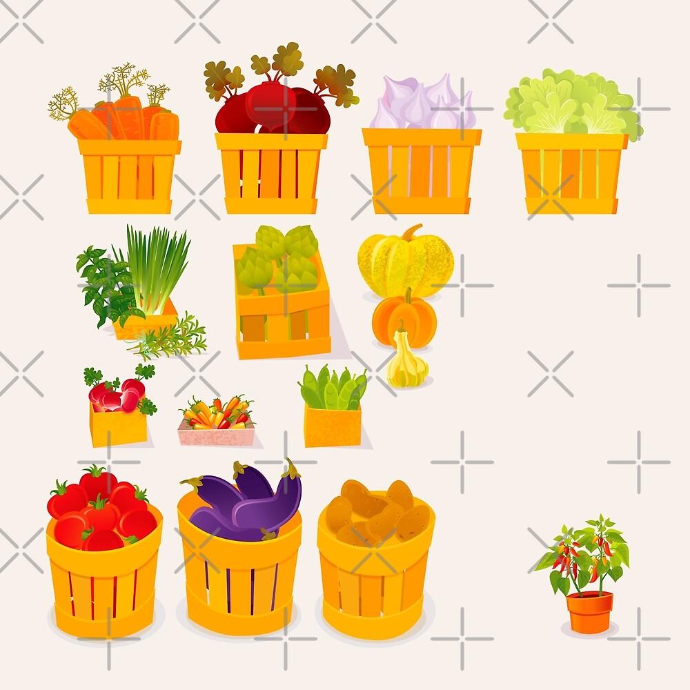 Vegetable Market by rusanovska