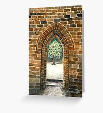 Castles were built a stone at a time Greeting Card