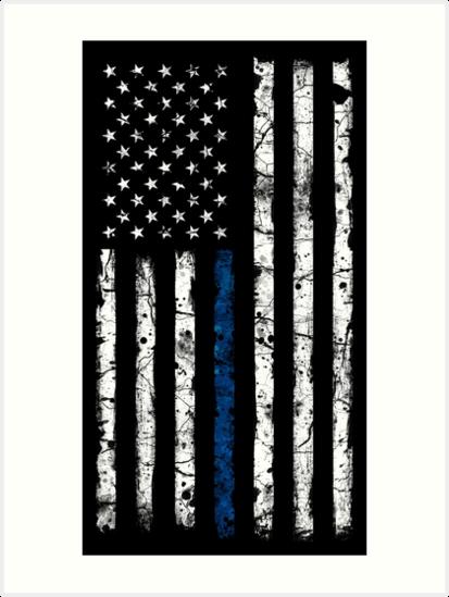 Quot Blue Line White V2 Vertical Quot Art Prints By