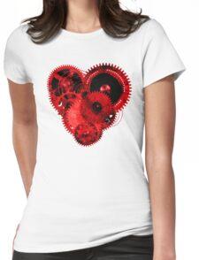Steampunk Gears Red Heart T-Shirt