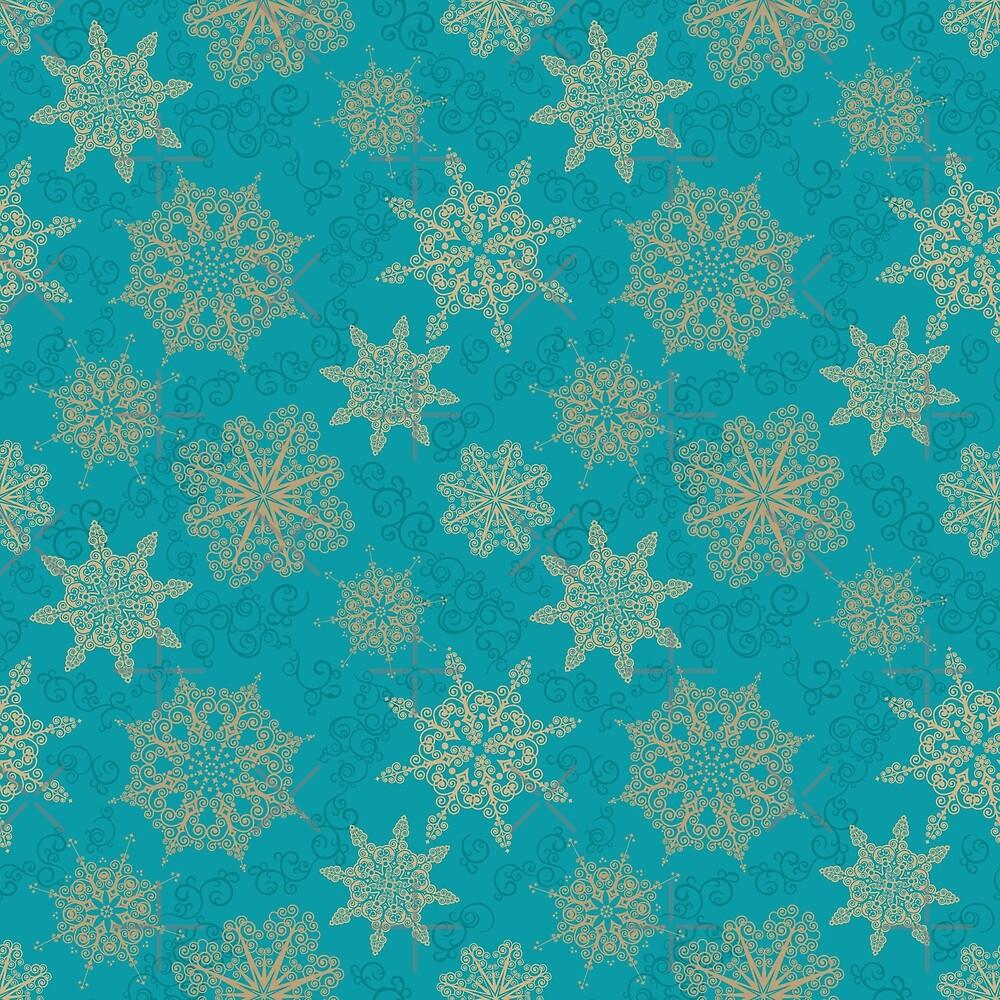 Golden Snowflakes by rusanovska
