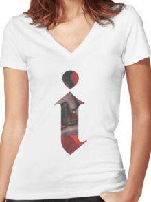 Kendrick Lamar i - Single Art Women's Fitted V-Neck T-Shirt