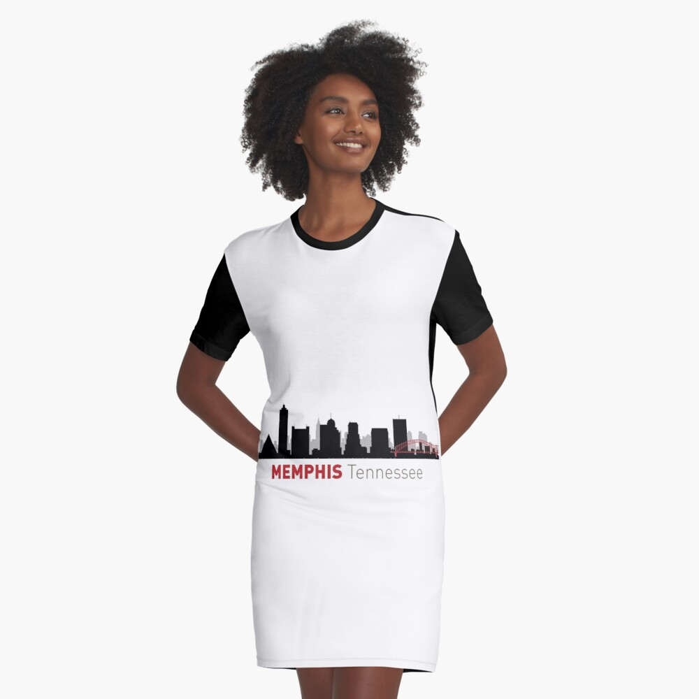 Memphis Skyline Graphic T-Shirt Dress