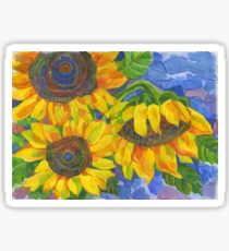 Sunflowers Glossy Sticker