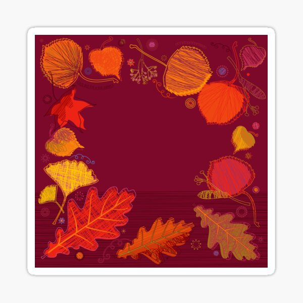 Autumn Leaves Glossy Sticker
