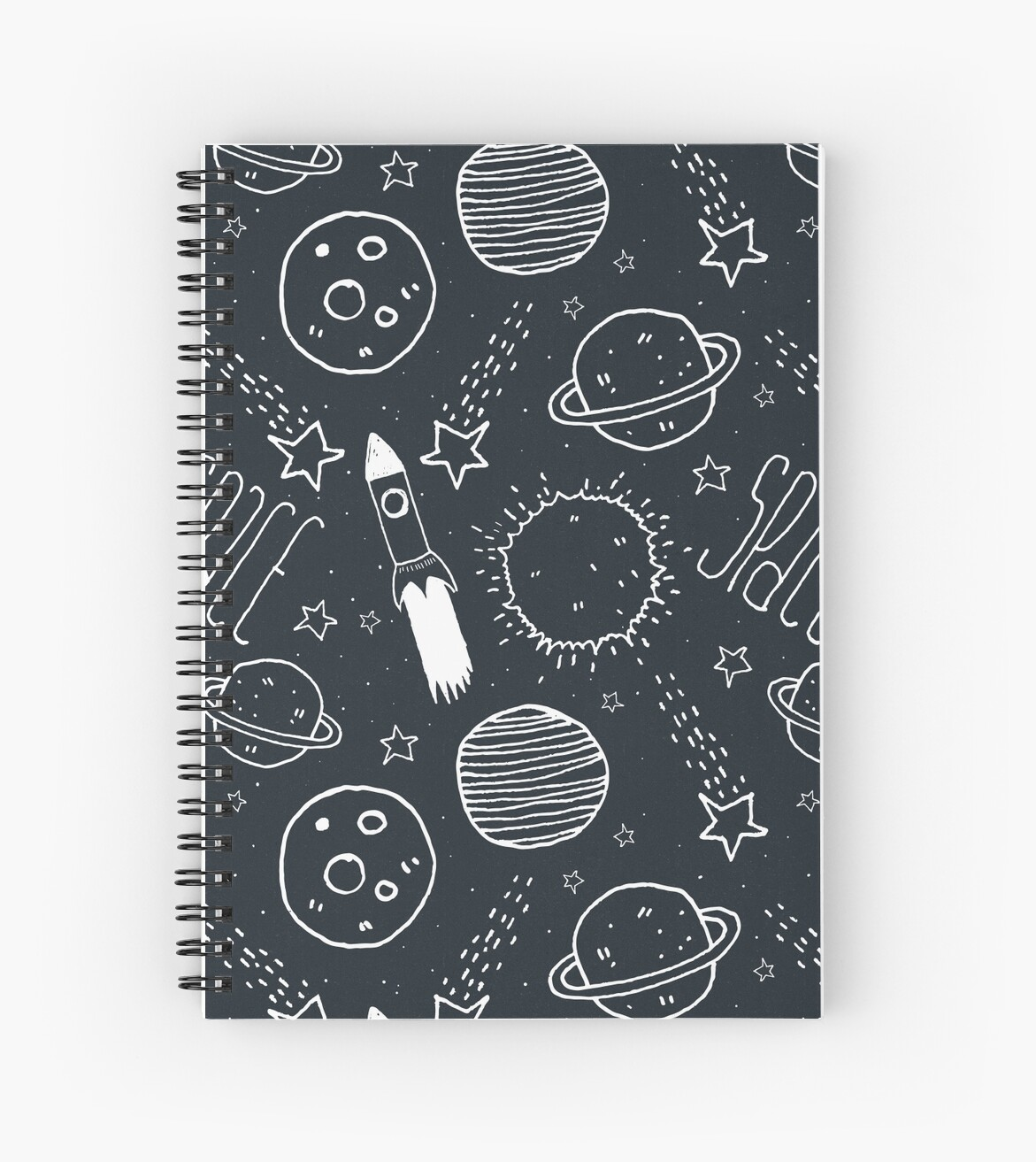 Quot Space Doodles Quot Spiral Notebook By Tracieandrews Redbubble
