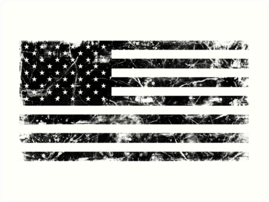 Quot American Flag Distressed Black Quot Art Prints By