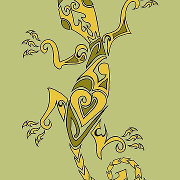 Lizard Tattoo Yellow by bluegoddess