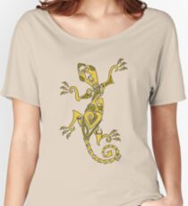 Lizard Tattoo Yellow Women's Relaxed Fit T-Shirt