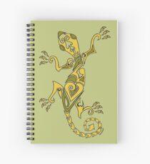 Lizard Tattoo Yellow Spiral Notebook