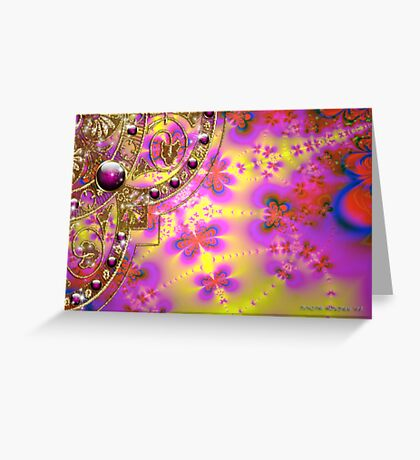 Abstract Butterflies Greeting Card