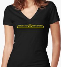 Flash photographer Women's Fitted V-Neck T-Shirt