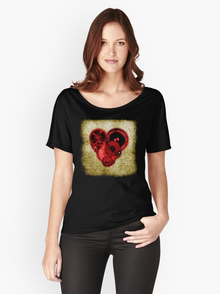 Vintage Steampunk Heart Women's Relaxed Fit T-Shirt Front
