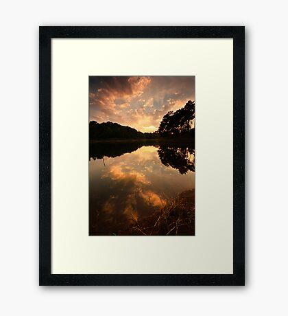 Sunburst over Umiam Framed Print