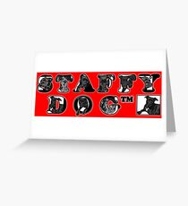 Staffy Dogs Pics in Logo Greeting Card