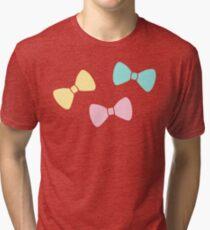 Pastel Bows Tri-blend T-Shirt