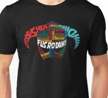 Powered by words! Unisex T-Shirt