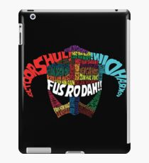 Powered by words! iPad Case/Skin