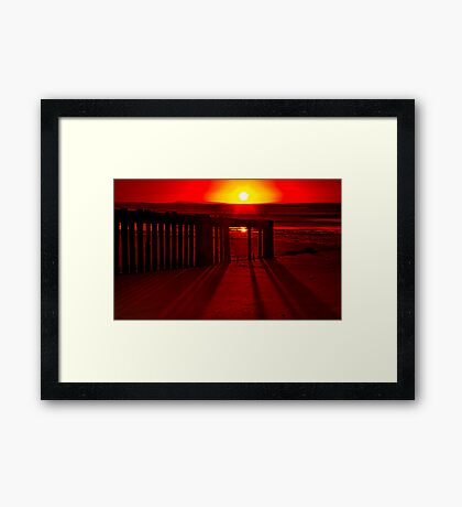 """Shadows In The Sunrise"" Framed Print"