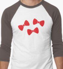 Red Bows Pattern Men's Baseball ¾ T-Shirt