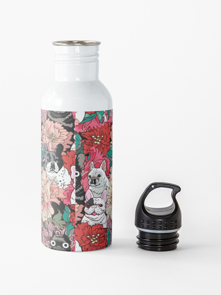 Alternate view of Because French Bulldog  Water Bottle