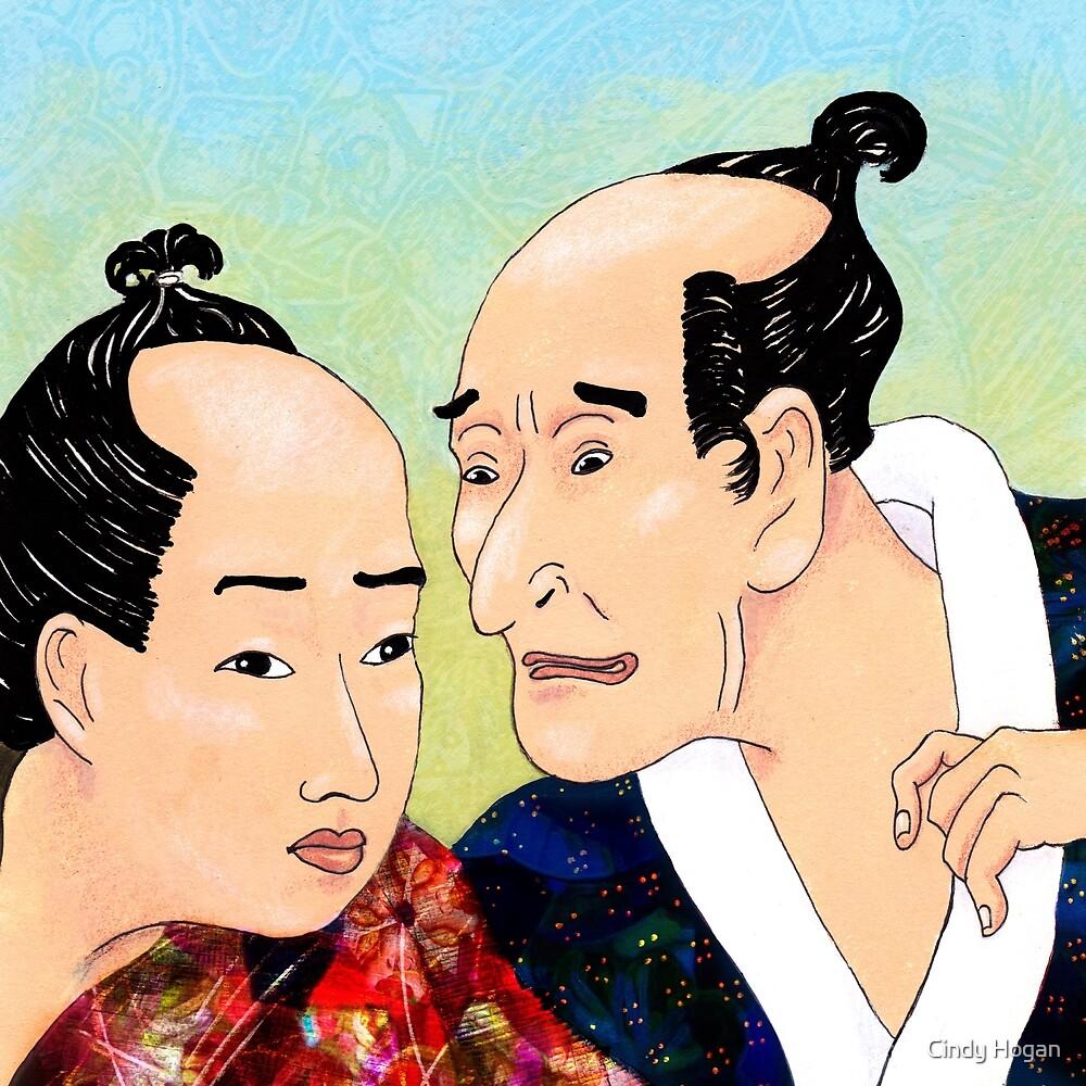 Mr Hokusai and Mr Hiroshige by Cindy Hogan