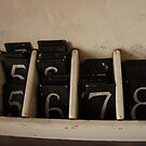 The numbers that the words sing, Tanunda Museum SA, Dec 2010 by Anna  Goodhind