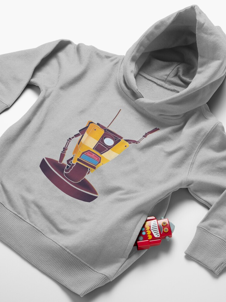 Alternate view of Waving Claptrap! Toddler Pullover Hoodie