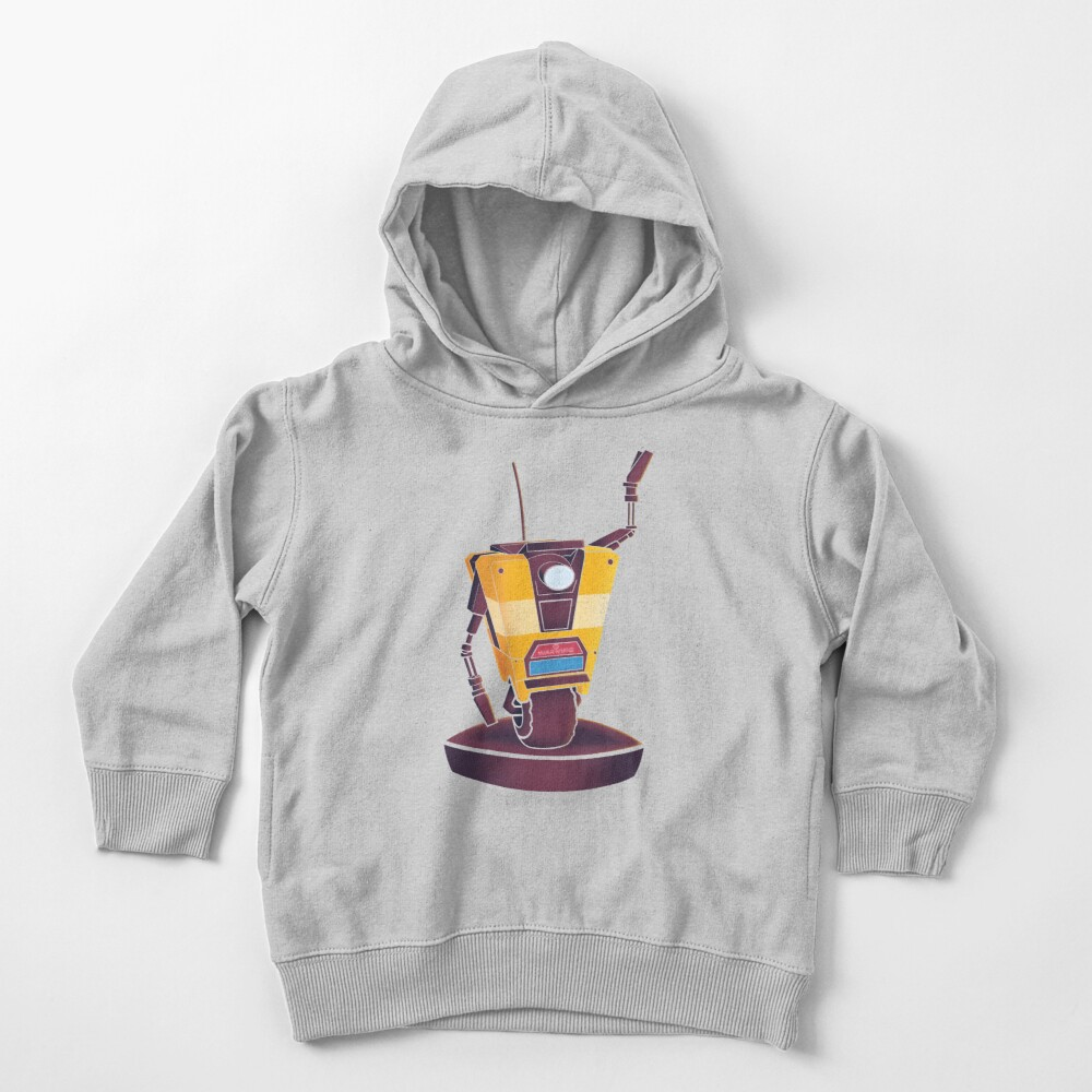 Waving Claptrap! Toddler Pullover Hoodie