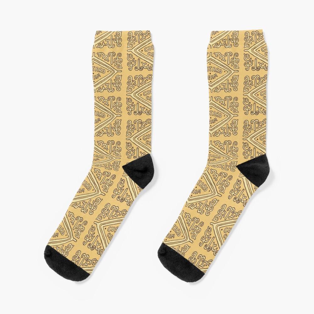Custard Cream British Biscuit Socks