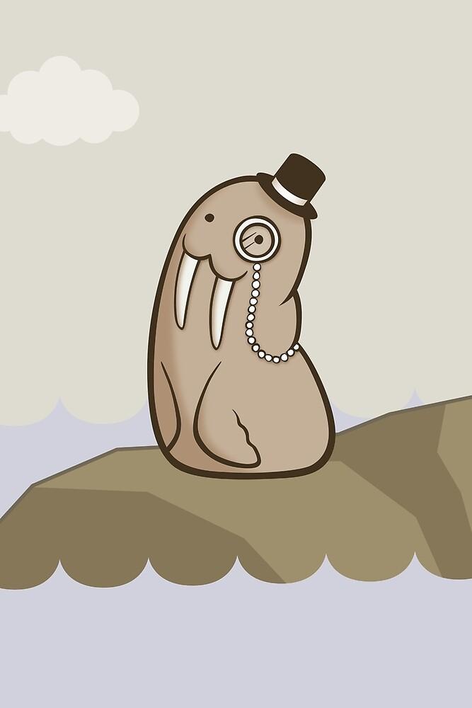 Dignified Walrus by Josh Bush