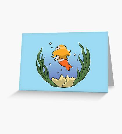 Girl In The Ocean Greeting Card