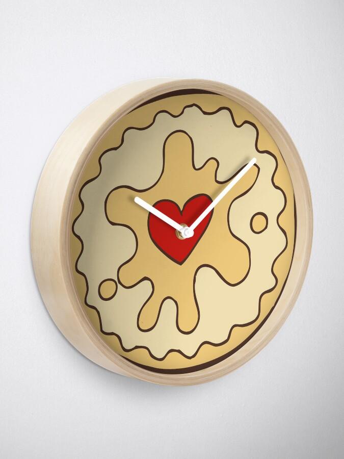 Alternate view of Jammy Dodger British Biscuit Clock