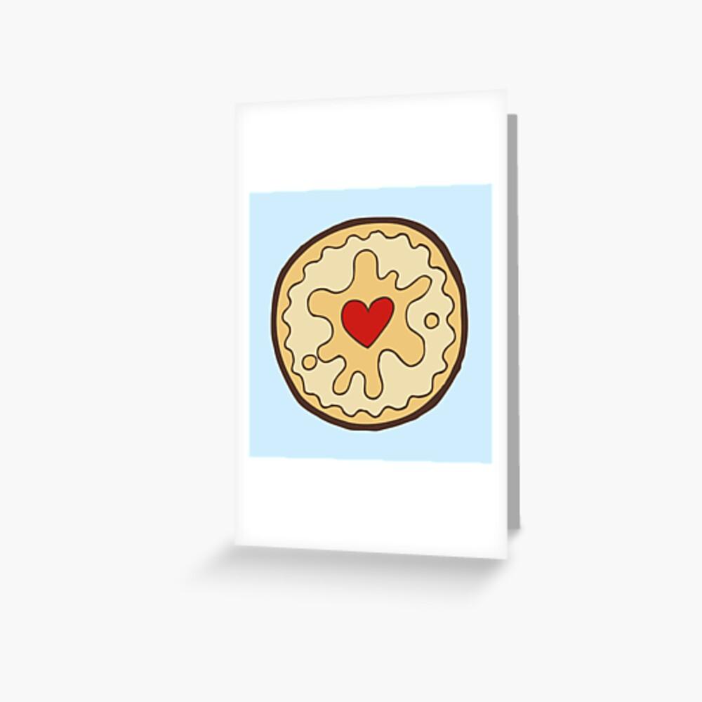 Jammy Dodger British Biscuit Greeting Card