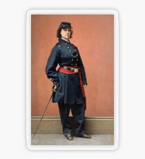 Pauline Cushman, a spy for the Union in the Civil War Transparent Sticker