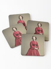 Pauline Cushman, actress and a spy for the Union in the Civil War. Made brevet Major by President Lincoln for her efforts in the war. 1865.  Coasters