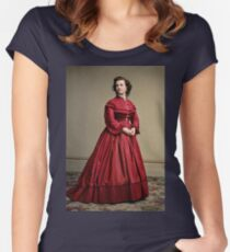 Pauline Cushman, actress and a spy for the Union in the Civil War. Made brevet Major by President Lincoln for her efforts in the war. 1865.  Fitted Scoop T-Shirt