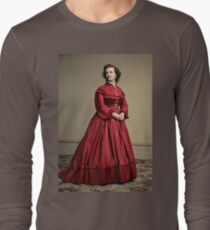 Pauline Cushman, actress and a spy for the Union in the Civil War. Made brevet Major by President Lincoln for her efforts in the war. 1865.  Long Sleeve T-Shirt
