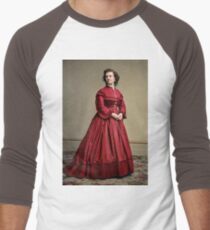 Pauline Cushman, actress and a spy for the Union in the Civil War. Made brevet Major by President Lincoln for her efforts in the war. 1865.  Baseball ¾ Sleeve T-Shirt