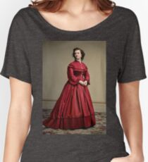 Pauline Cushman, actress and a spy for the Union in the Civil War. Made brevet Major by President Lincoln for her efforts in the war. 1865.  Relaxed Fit T-Shirt