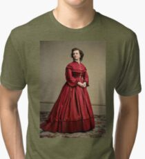 Pauline Cushman, actress and a spy for the Union in the Civil War. Made brevet Major by President Lincoln for her efforts in the war. 1865.  Tri-blend T-Shirt